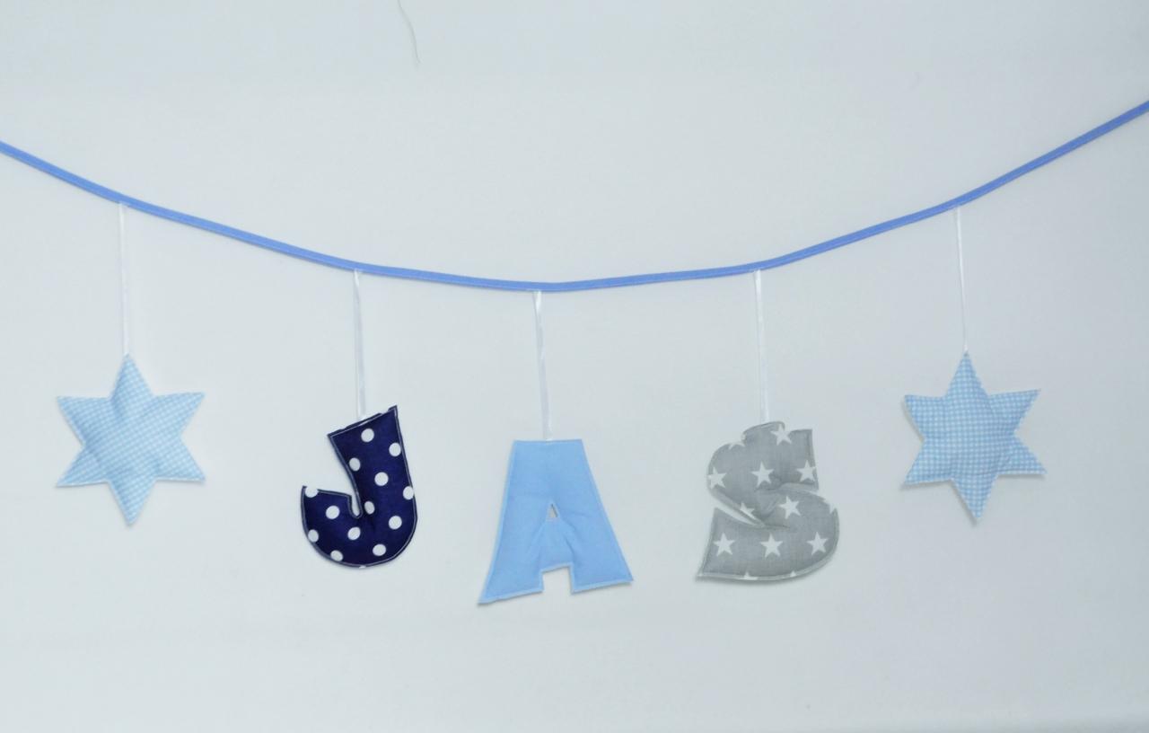 Zestaw literek Girlanda z imieniem dziecka - zestaw 3 literowy