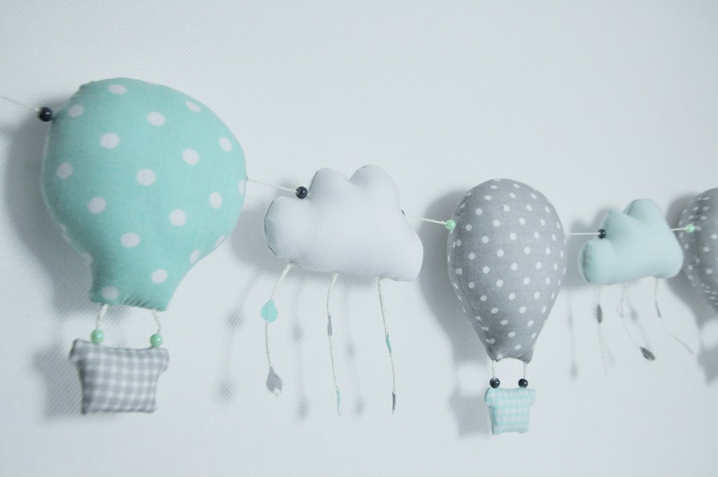 Zestaw literek Balony, chmurki
