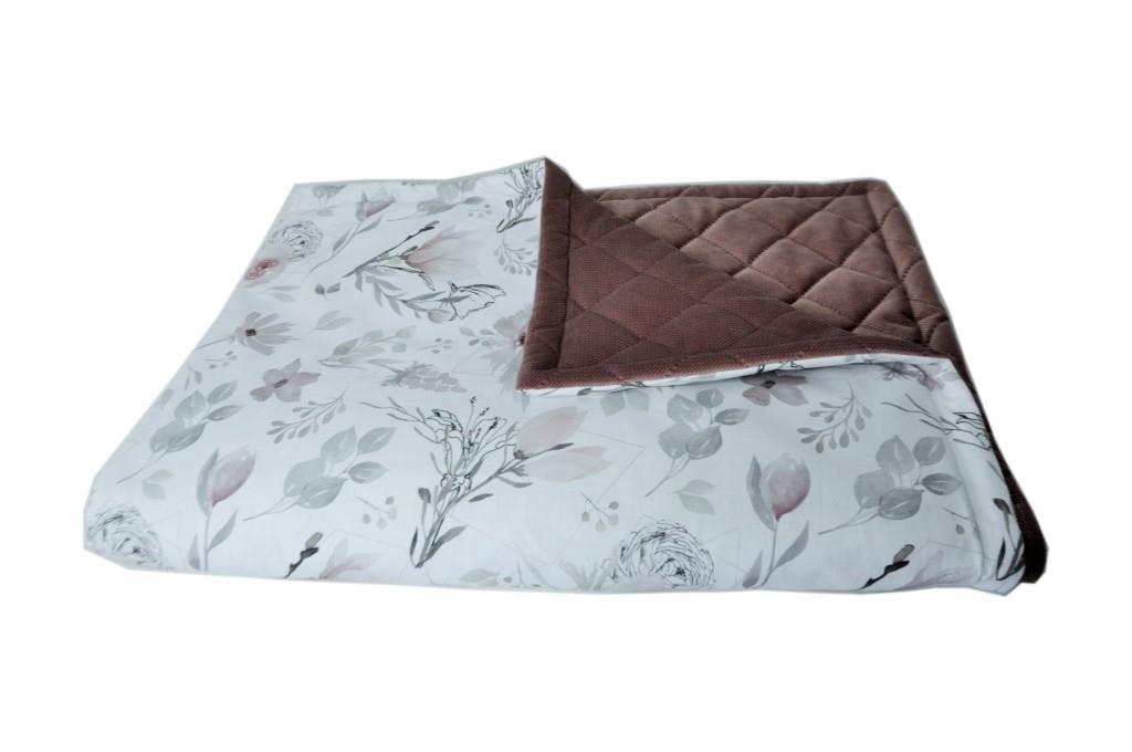 Zestaw literek Kocyk pastelowe magnolie - bawełna premium 100x135 cm