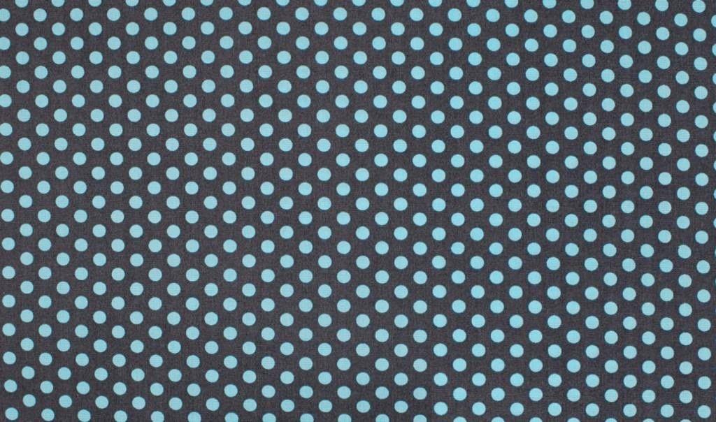 Grafik w niebieskie grochy